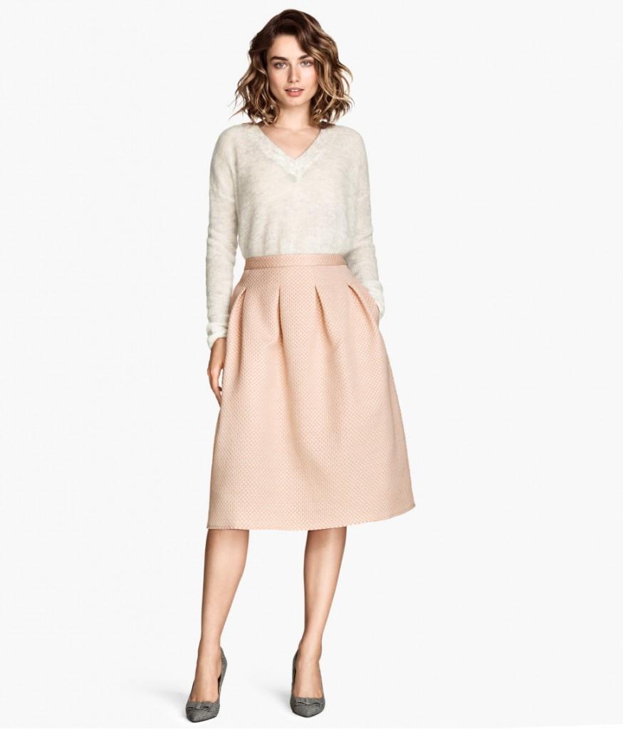 h&M rosa kjol